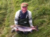 Frank Stephenson with the biggest fish caught on Dalguise in 2012.