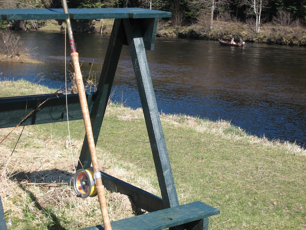 Rod rest at Lee of Island
