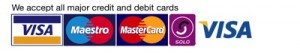 Credit and Debit cards logo