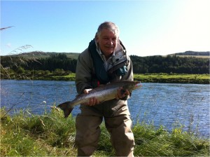 Clive Castell with his 5lb Grilse from The Guay Pool 17/08/11